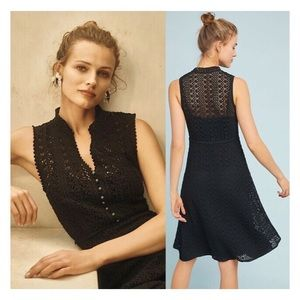 NWT Anthropologie Meadow Rue Evelyn Crochet Dress